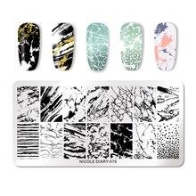 Nicole Dagboek Rvs Nail Stempelen Platen Bloemen Nail Art Diy Ontwerp Afbeelding Nail Plaat Stencil Accessoires Tool