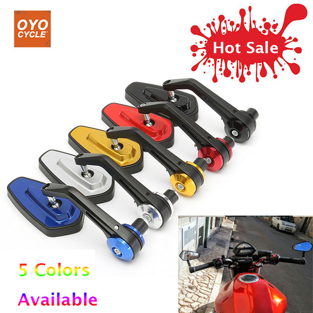 """Pair 7/8"""" 22mm Universal Handle Bar End Rearview Side Rear View Mirrors For Yamaha Honda Scooter Bikes Motorcycle Accessories"""