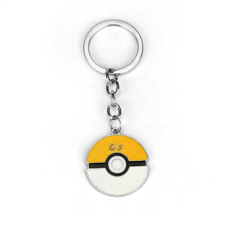Preço mais barato Pocket Monsters Pikachu Pokemon Ir com Chapéu Encantador Chaveiros Hot Anime Pokemon Pokeballs Alloy Chaveiro Chaveiro