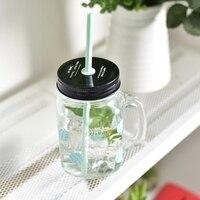 الإبداعي الزجاج الشفاف زجاجة الحليب الشاي الغلايات الديك و الجليد الحليب عصير الفاكهة الشاي المشروب البارد جميل سترو زجاجة المياه