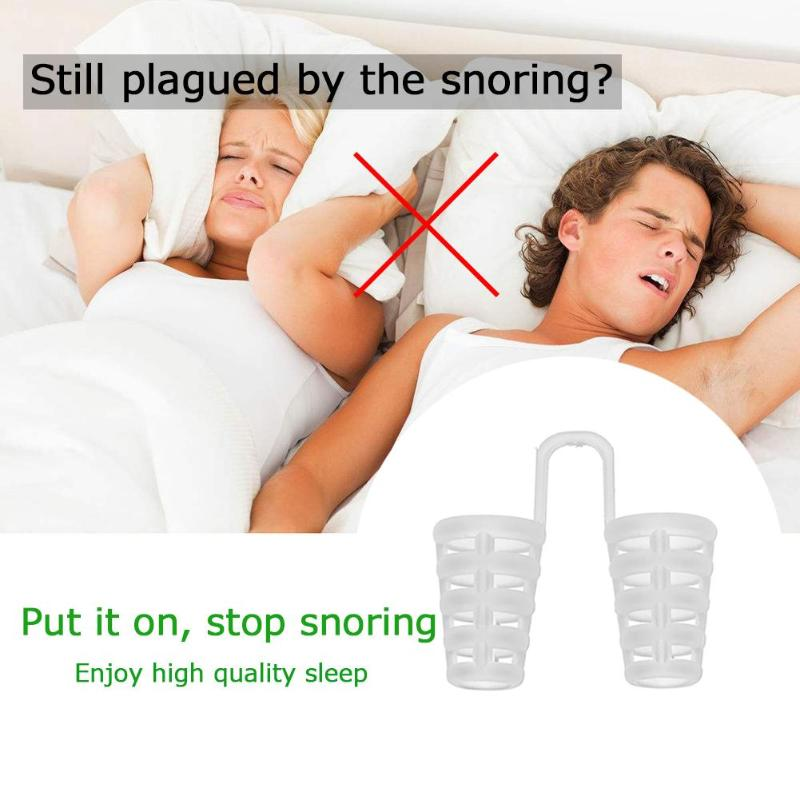 4pcs Anti Snore Apnea Nose Clip Anti-Snoring Breathe Aid Stop Snore Device Sleeping Aid Equipment Stop Snoring