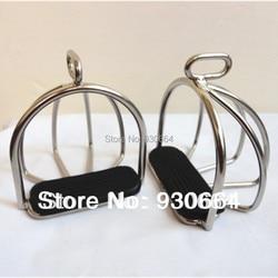 Stirrups de seguridad de acero inoxidable con jaula sillín de hierro caballo equipo caballo producto Caballero equipo