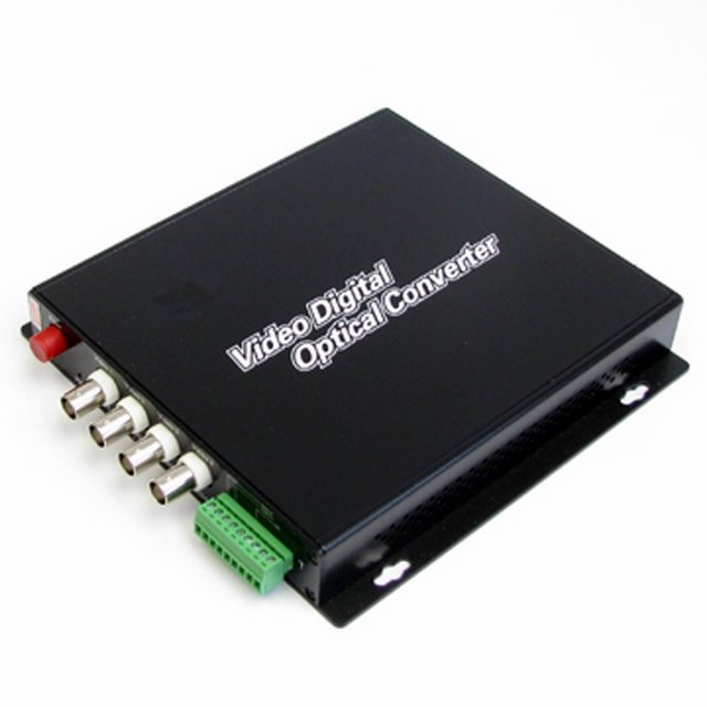 Free Shipping Wholesales! CCTV Video Transceiver Over optical fiber--4-Channel Video  + 1 Data (For PTZ Camera)