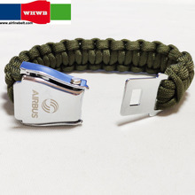 Airbus Beoing Stainless Steel Airplane Aircraft Airline Seatbelt Buckle Rope Paracord