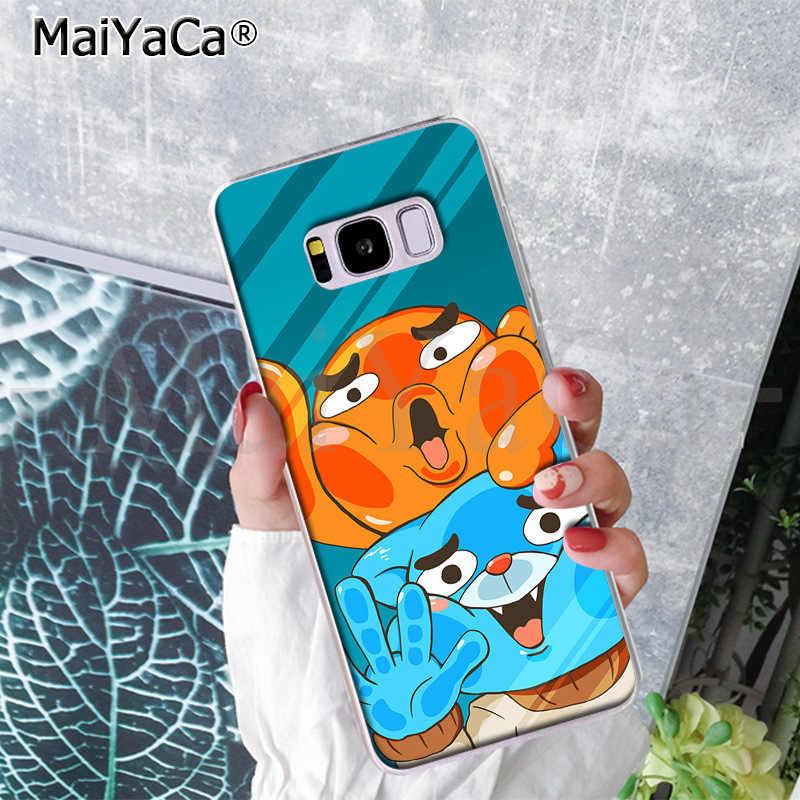 MaiYaCa o Incrível Mundo de Gumball chicletes Claro Caso de Telefone de Silicone para Samsung S9 S9 plus S5 S6S6edge S6plus S7 S7edge s8 S8plus