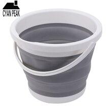 5L Folding Bucket Portable Folding Art Bucket Car Wash Fishing Bathroom Kitchen Silicone T
