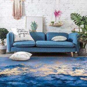 Image 2 - Nordique INS abstrait bleu côte tapis salon chambre chevet entrée ascenseur tapis de sol canapé table basse tapis antidérapant