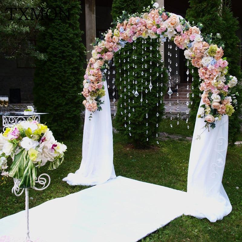 Us 9408 36 Offkustom Pernikahan Sutra Bunga Bunga Buatan Arch Rangkaian Bunga Dekorasi Pernikahan T Meja Window Latar Belakang Bunga Alat