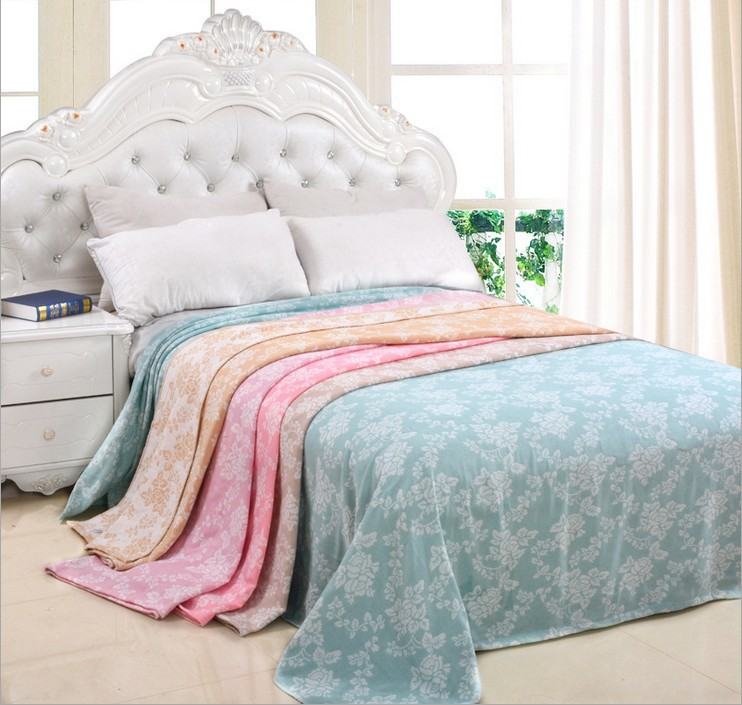 Freeshipping 100% Cotton Double Layer Towel Blanket Soft Fastness Water Absorption <font><b>Bed</b></font> Sheet Air Conditioning Thin Summer Quilt