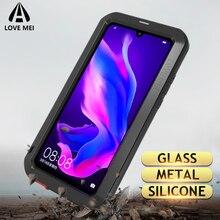Aşk Mei Metal Kasa Huawei P30 Pro Darbeye Dayanıklı Telefon Kapak Için Huawei P30 Lite Sağlam Zırh Anti Fall kılıf Için Huawei P30 Pro