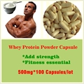 500mg 100 Capsules  Pure Whey Protein Powder Capsules WPC80 Fitness Nutrition Supplements Increase Body Muscle Weight