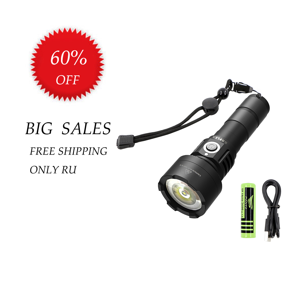 BRILEX Rechargeable USB Flashlight LED Torche led Lantern Torch Penlight Tactical Mini LED Flashlight USB Black 18650 battery