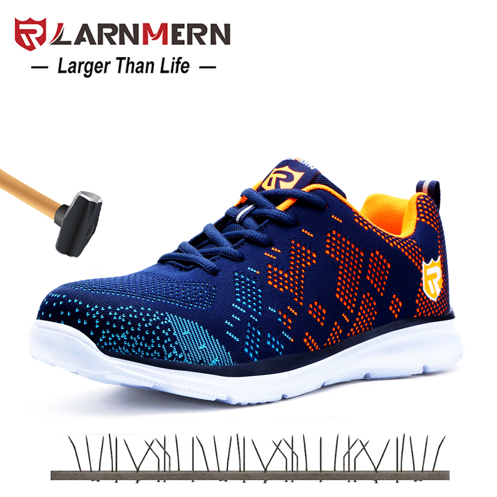 Larnmern Mens Steel Toe Work Safety Shoes Lightweight Breathable Anti-smashing Non-slip Reflective Casual Sneaker Back To Search Resultsshoes