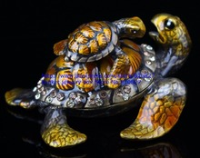 Newest Pewter Sea Turtles Trinket Treasure Box Vintage Jewelry