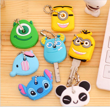1pcs cartoon Silicone Protective key Case Cover For key Control Dust Cover Holder Organizer Home Accessories Supplies cheap YSK001
