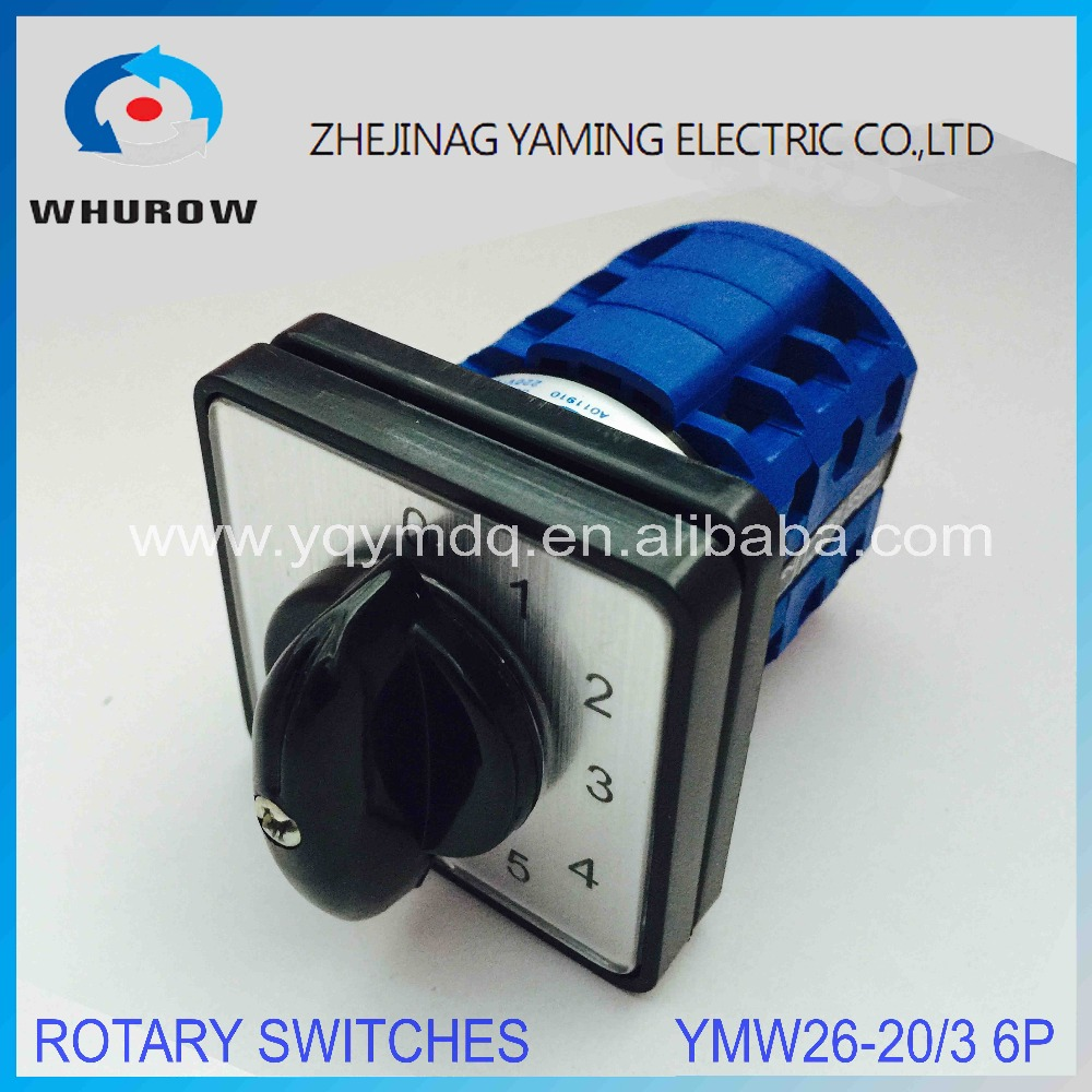 все цены на LW26 YMW26-20/3 Rotary switch 6 postion 0-5 690V 20A 2 pole universal changeover cam main switch silver contact circuit control онлайн