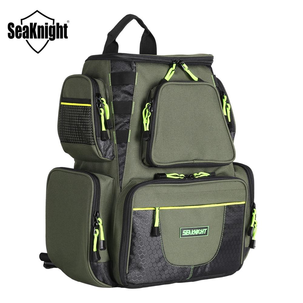 SeaKnight New SK004 Fishing Bag 25L Large Capacity Multifunctional Tackle Backpack 1000D Nylon 41 44 20cm