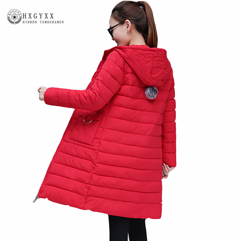 Hooded Long Parka Female Quilted Jacket Woman Winter Coat Solid Color Thick Slim Cotton Padded Outwear Warm Clothing 2019 Okd361