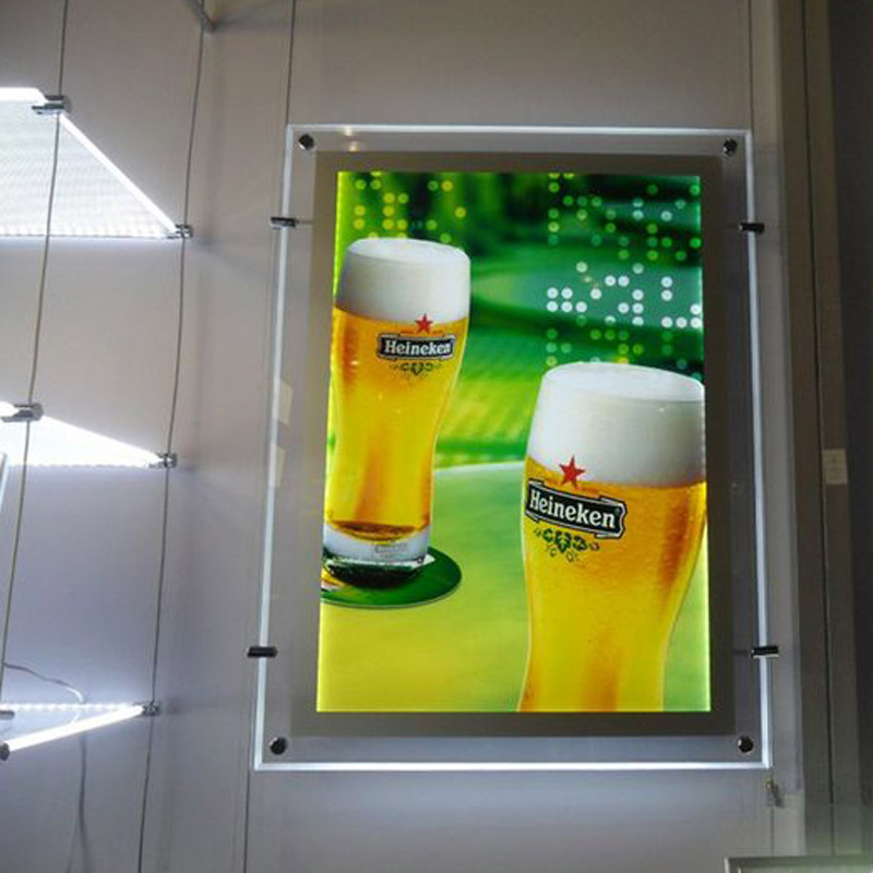 (1unit/Column) A4 Single Sided LED Window Display LED Shop Window Light Panel,Suspended Led Display for Agent,Hotel,Retail Store 1unit column a4 double sided gallery hanging systems wire hanging picture hanging systems for agent hotel retail store