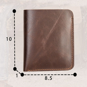 Image 5 - AETOO Leather wallet male short paragraph the first layer of leather handmade two fold thin drivers license wallet vertical
