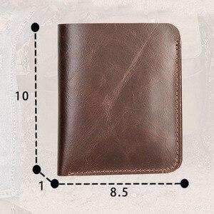 Image 5 - AETOO עור ארנק זכר קצר סעיף השכבה הראשונה של עור בעבודת יד שני לקפל דק רישיון נהיגה ארנק אנכי