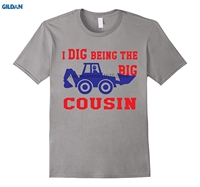 GILDAN 100 Cotton O Neck Printed T Shirt I Dig Being The Big Cousin Tee Shirt