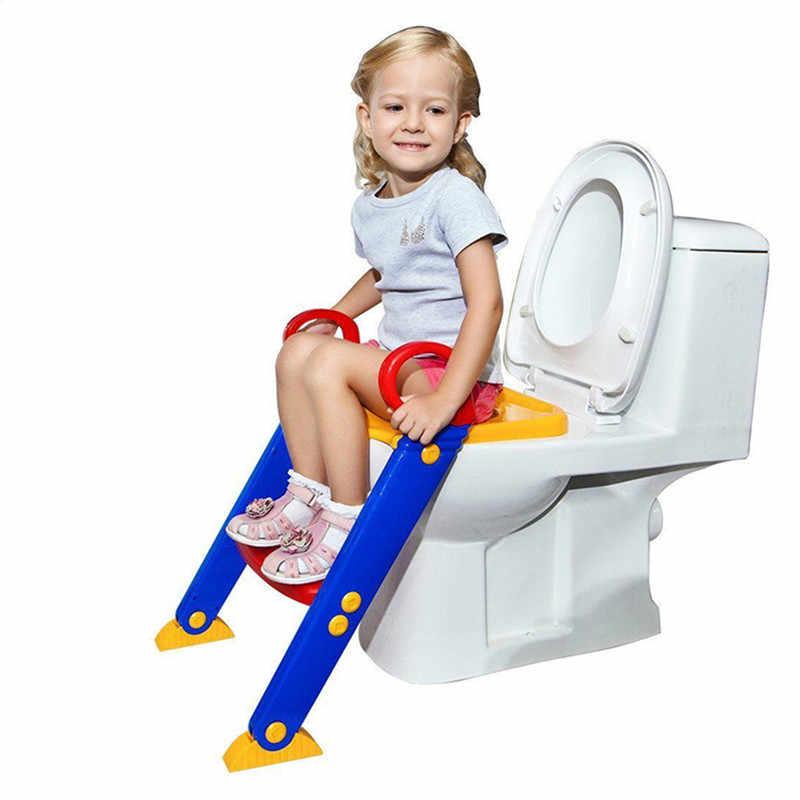 Детское сиденье для унитаза складывающийся горшок туалет тренировочное сиденье стул Шаг с регулируемая лестница Детский горшок Дети Бесплатная доставка