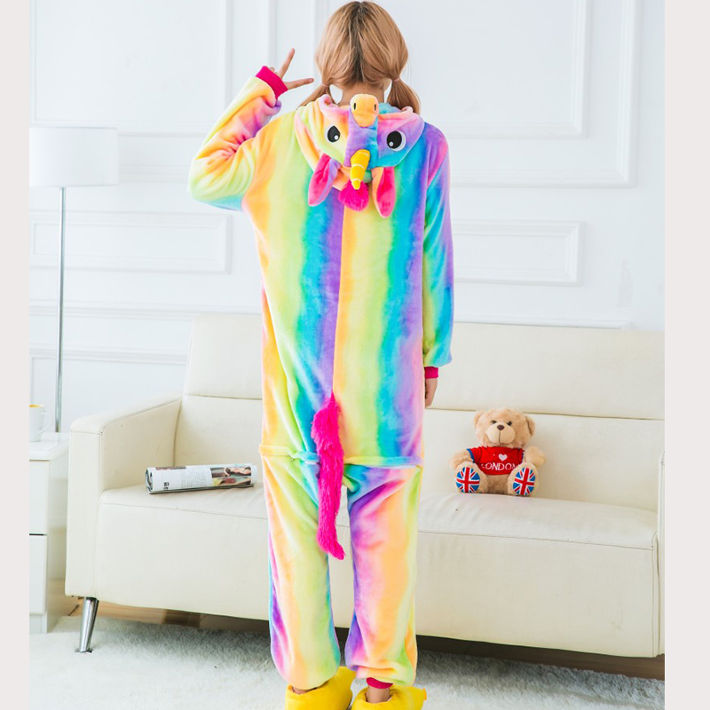 Halloween-Unicorn-Pajamas-Sets-Flannel-Pajamas-Winter-2017-Blue-Stitch-Nightie-Onesies-for-Women-Adult-Sleepwear (2)