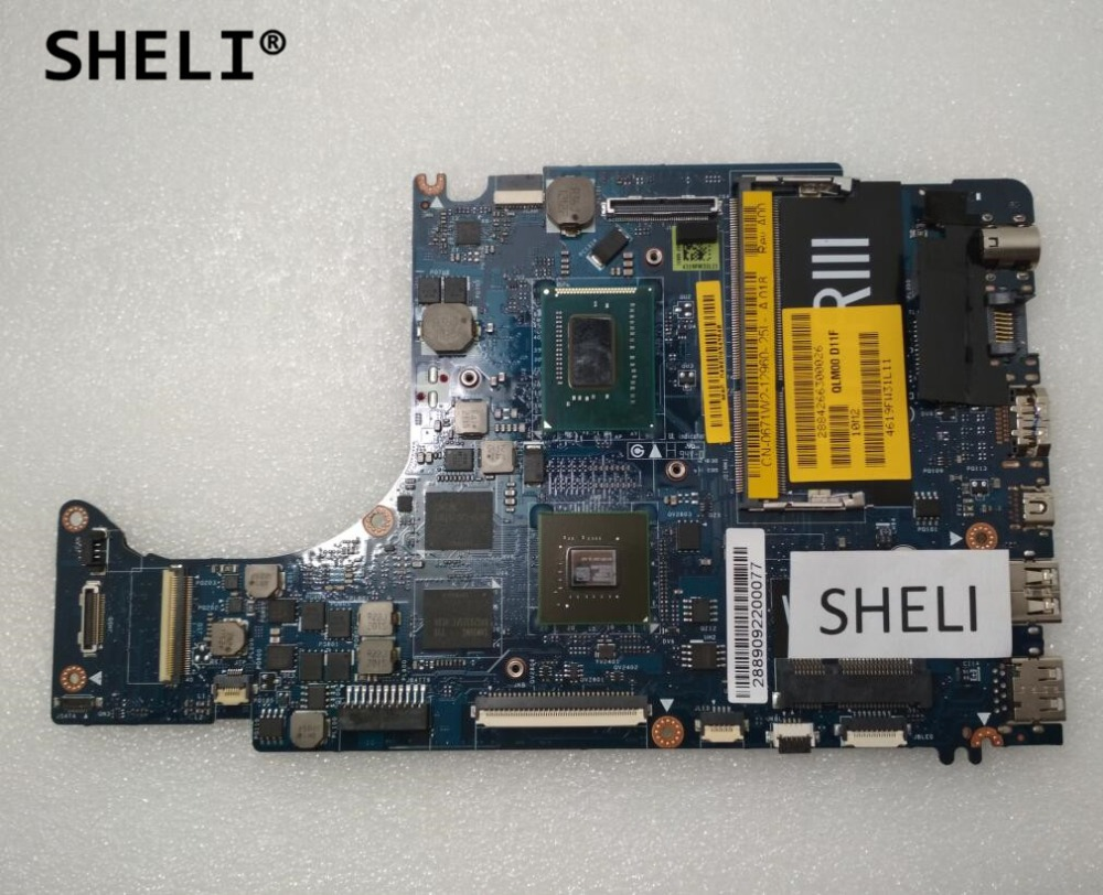 SHELI For Dell L421X laptop Motherboard notebook pc mainboard with I5-3317U LA-7841P CN-0671W2 0671W2 671W2 100% tested ok