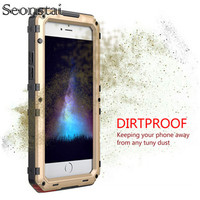 For IPhone 7 Plus Armor Case Outdoor Shockproof Aluminum Metal Cover For IPhone X 8 7