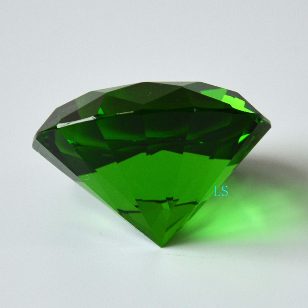 9860f20673c39 Emerald Crystal Green Paperweight Cut Glass Large Giant Diamond Jewel 50mm  Emerald Isle-in Figurines & Miniatures from Home & Garden on Aliexpress.com  ...