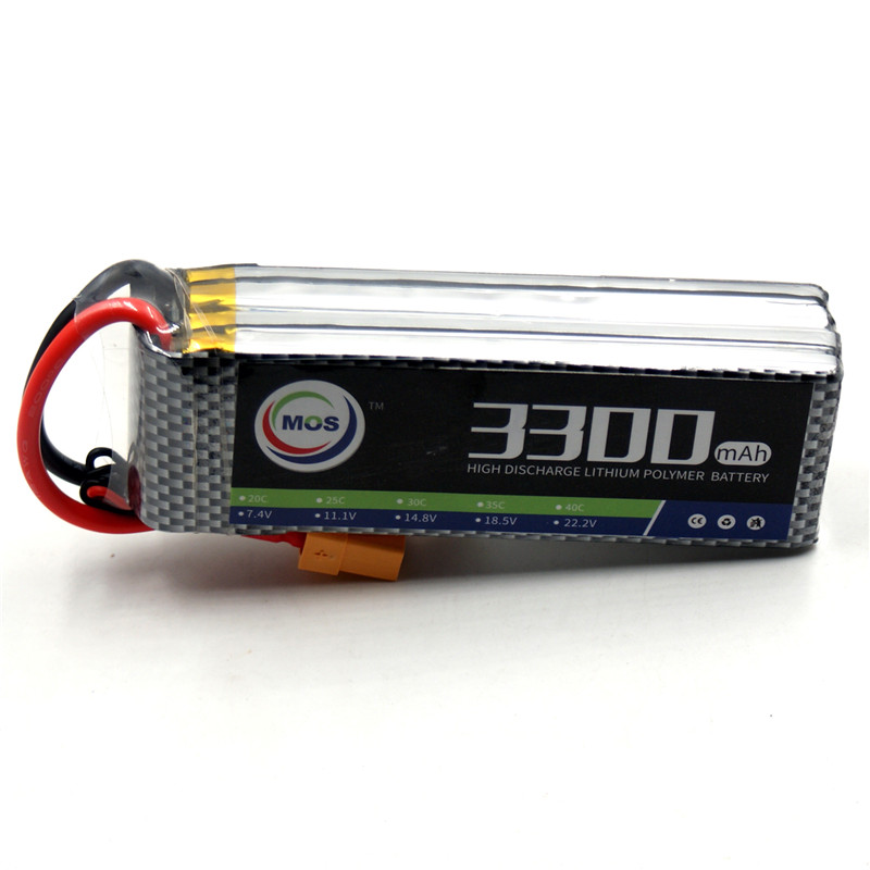 MOS 4S RC Airplane lipo battery 14.8v 3300mAh 40C For RC Drone Car Boat Free shipping mos 2s rc lipo battery 7 4v 2600mah 40c max 80c for rc airplane drone car batteria lithium akku free shipping