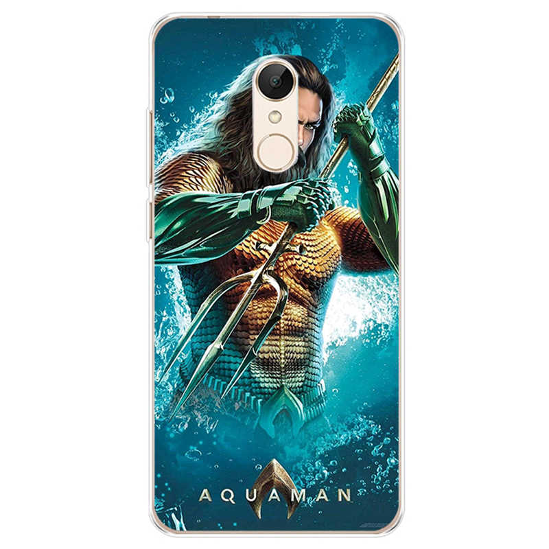 DC комиксы, фильм аквамэн крышка чехол для телефона из мягкого силикона ТПУ с рисунком чехол для телефона для xiaomi 4 5 6 6X8 miX2S для redmi4A 4X5 5a 5 плюс note4 4X5