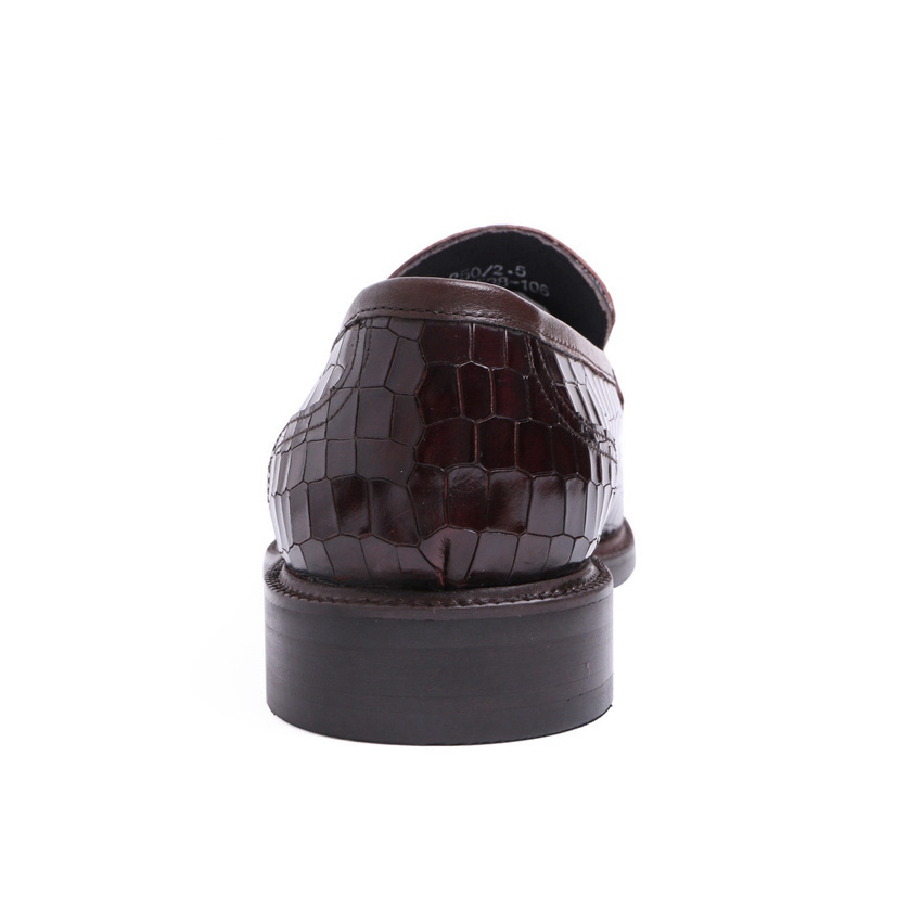 Lujo Altura Negro Hecho marrón Deslizamiento Zapatos A Hombres Punta De Los Alta La Auténtico Hombre Ymx437 En Redonda Casual Calidad Mano Cuero Aumento Mocasines Boda gETwqArg6
