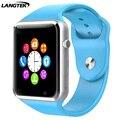 2016 moda bluetooth smart watch relógio de pulso do esporte para o telefone android com câmera sim apoio tf cartão pedômetro gt08 gt88 dz09