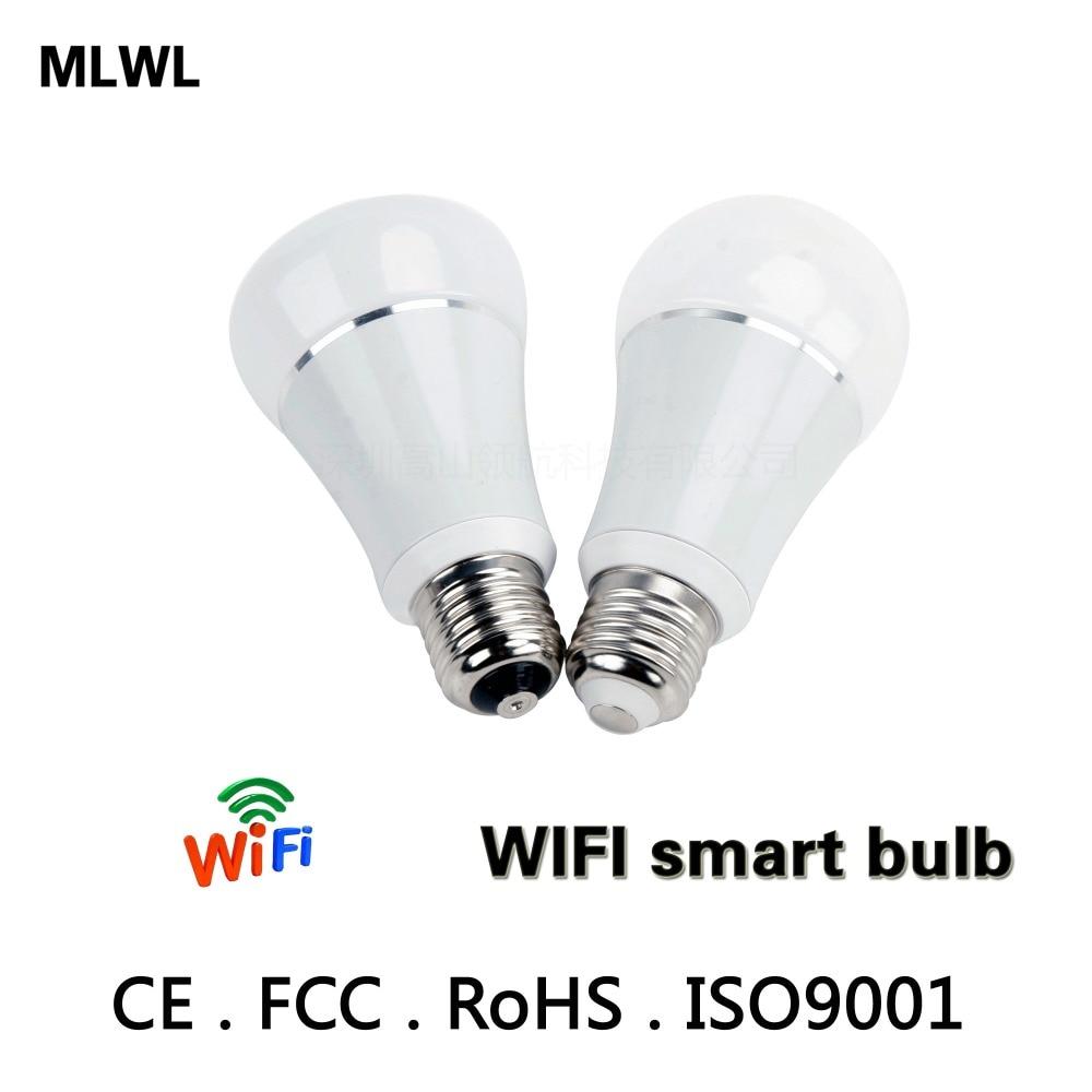 Купить с кэшбэком Smart WIFI Lighting Remote Control 3W RGB Led Bulb Light E26 E27 6W LED Bulb Dimmer