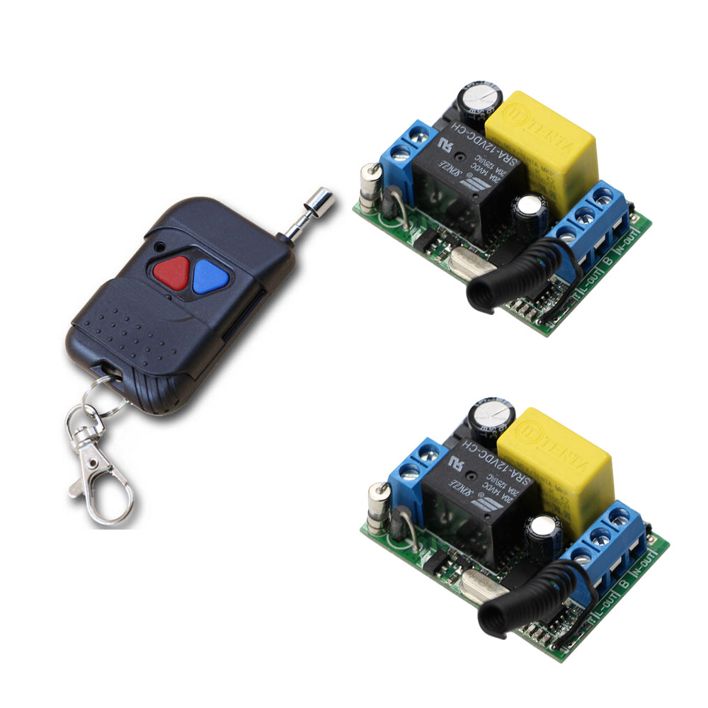 AC220V  Radio Remote Controller and Receiver Lighting Power ON OFF Switch System Learning Code Momentary Toggle Latched ac220v mini size radio remote control lighting power on off switch system learning code momentary toggle latched 315 433mhz