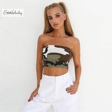 f61038dd7f New Womens Ladies Sleeveless Tank Tops Plain Printed Boob Tube Strapless  Bandeau Stretch Vest Ladies Camo