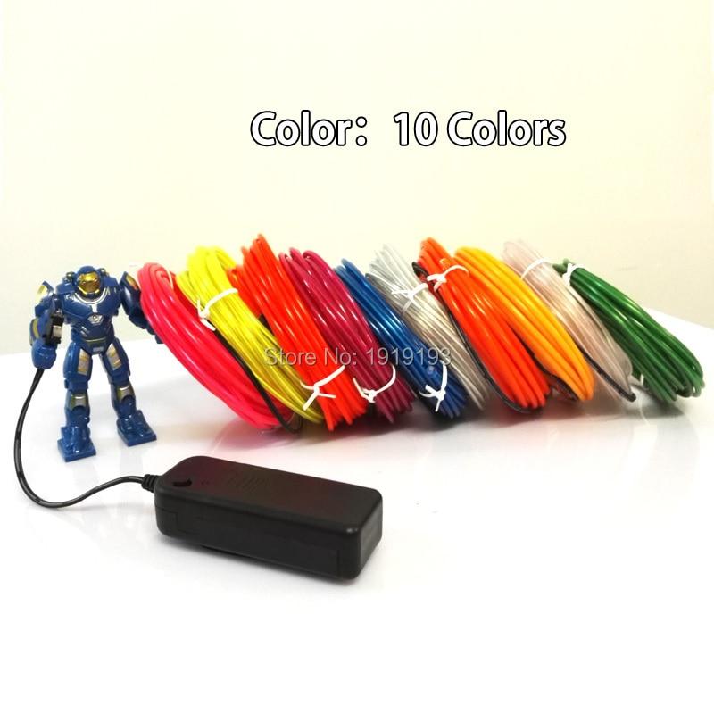 Tiras de Led tubo de fio de corda Powered By : 2-aa Batteries (not Included)