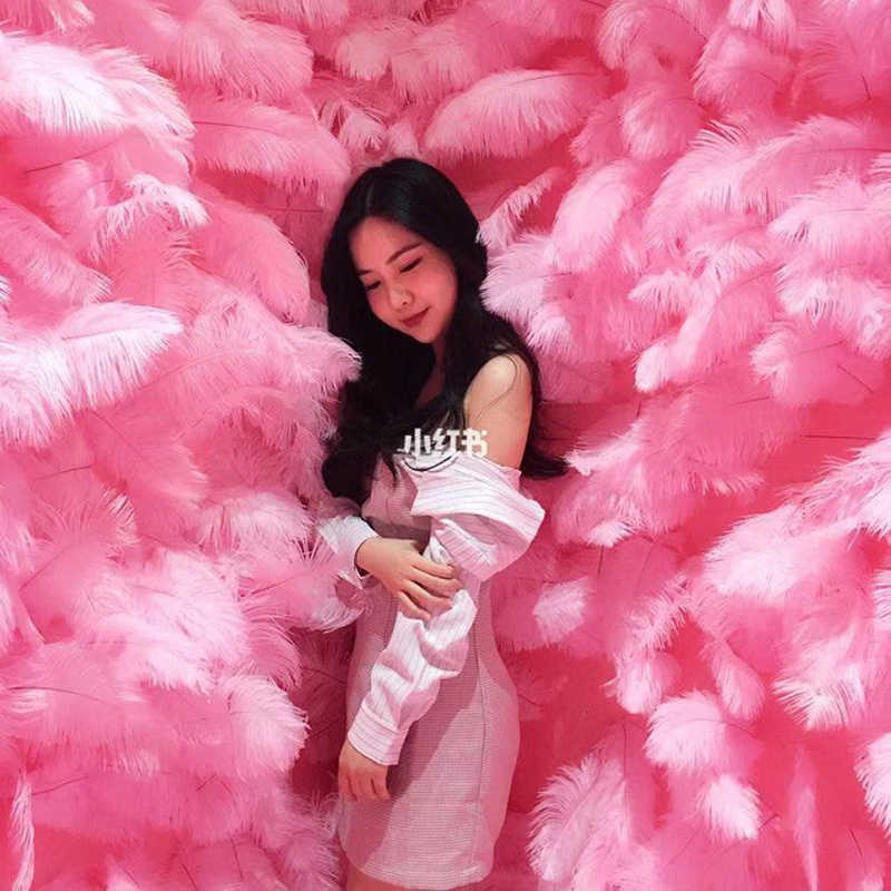 wholesales supplies 15 to 20 cm Birthday grant event photo Props Backdrops Ostrich feather wedding decoration party feathers