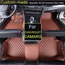 Dla Chevrolet Camaro 5th Dywaniki Samochodowe Car styling Stóp Dywany Dywany Na Zamówienie dla Chevy Camaro Cruze Captiva Sail Malibu