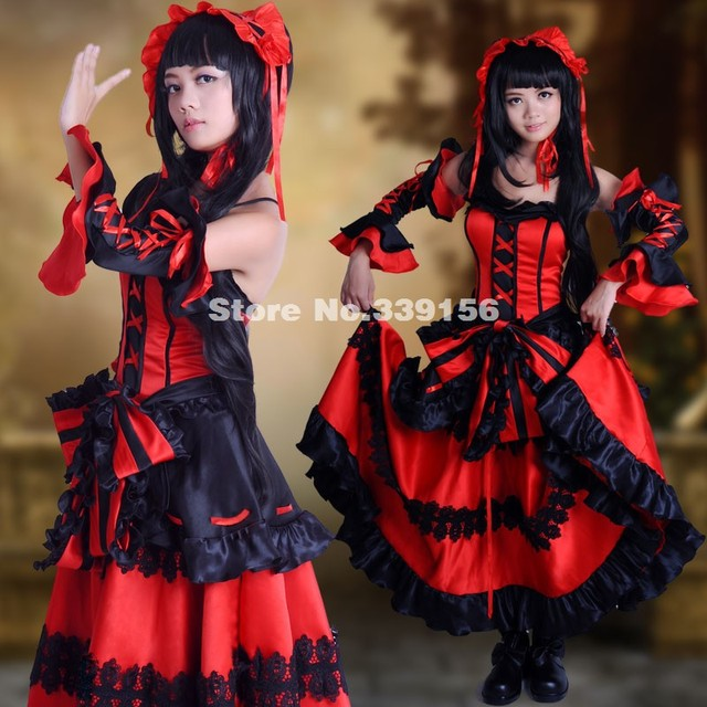 2017 Best Seller Customized Date A Live Cosplay Costumes Tokisaki