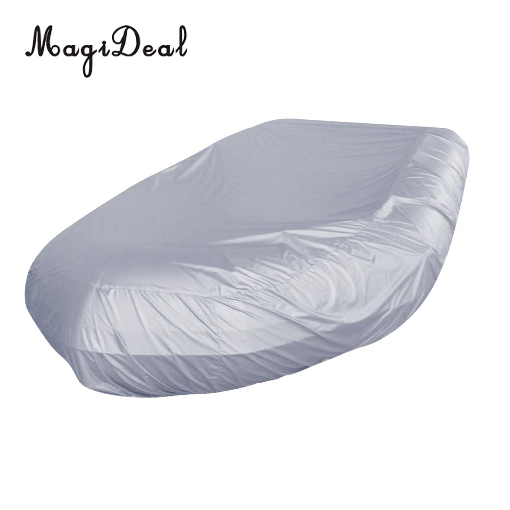 Imperméable à l'eau UV soleil Protection contre la poussière bateau gonflable canot couverture tendre stockage costumes jusqu'à 7.5-17ft-7 tailles disponibles