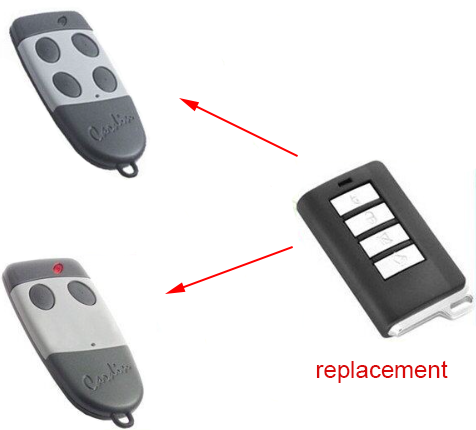 CARDIN S449 Garage Door repalcement Remote Transmitter Key Fob 5pcs high quality compatible remote transmitter key fob for cardin s449 qz 2 qz 4