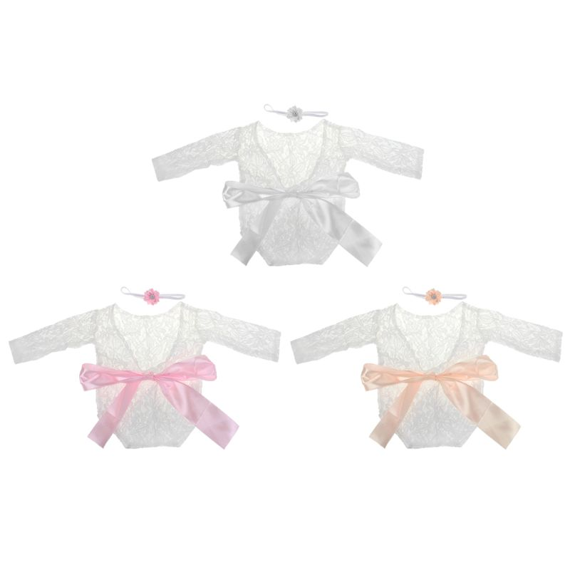 1 Set Newborn Photography Props Baby Girl Lace   Romper   Infant Photo Shoot Clothes Photo Props Baby Newborn Props Infant Photo