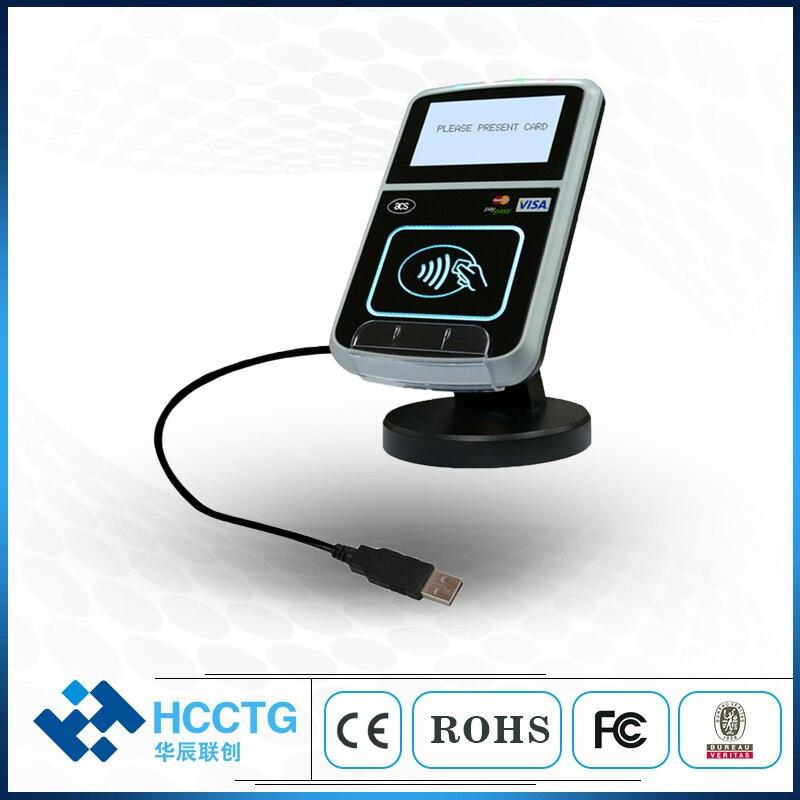 13,56 МГц USB интерфейс Интеллектуальный бесконтактный считыватель с ЖК дисплеем для ISO 14443 ACR123