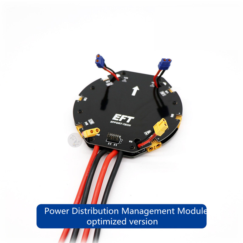EFT Power Distribution Management Module High Current PDB12S 480A optimized for DIY agricultural drone quad and hexacopter eft eight axis power distribution management module high current pdb for diy agricultural drone octocopter