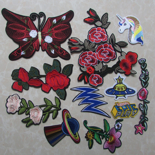 ee44f13dcd9a new arrive fashion Unicorn Patch Iron Sew On Cartoon Patches Rainbow Cute  Cheap Embroidered Patches For Clothes Stickers Badge-in Patches from Home &  ...