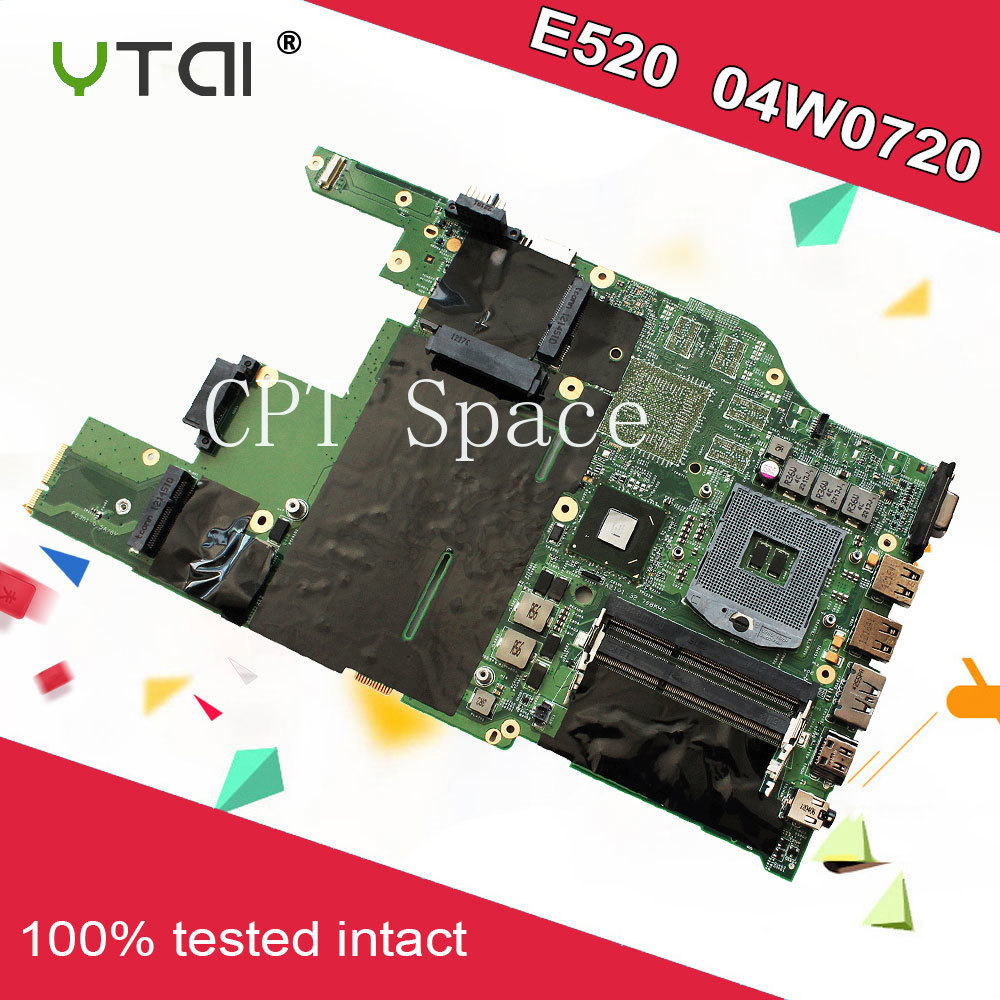 E520 Motherboard 04W0720 For Lenovo E520 laptop Motherboard 04W0720 HM65 DDR3 Integrated graphics card Mainboard fully