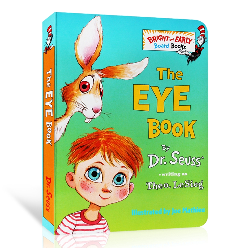 Dr Seuss Series-The Eye Book Educational Toys For Children English Picture Story Cardboard Book For Baby Learning English